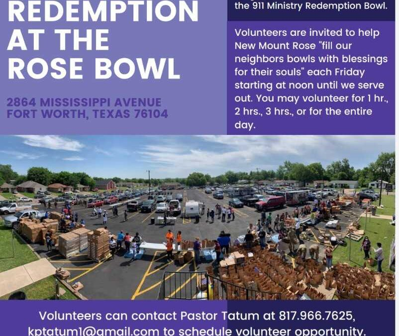 FRIDAY NIGHT LIGHTS AT THE ROSE BOWL IS CITY'S FIRST NIGHT TIME FOOD DISTRIBUTION HUB – Fort Worth AMBLP
